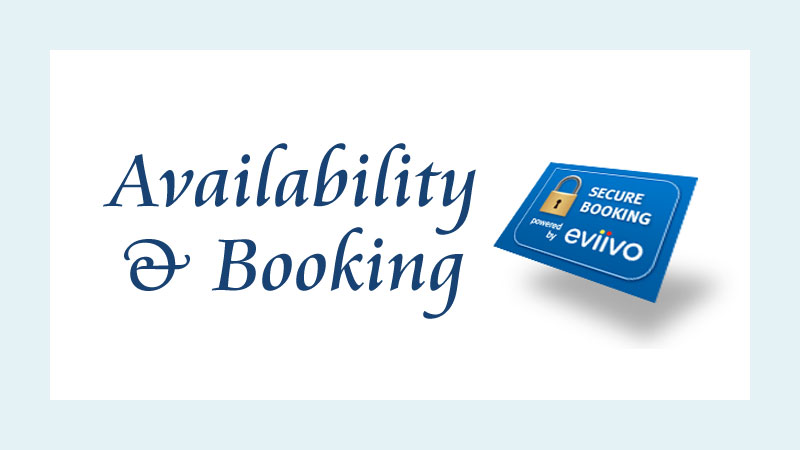 availability and secure booking with eviivo