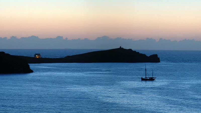 towan headland newquay dusk